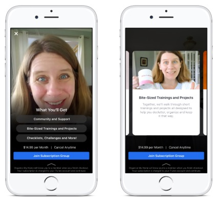 Facebook's subscription group feature