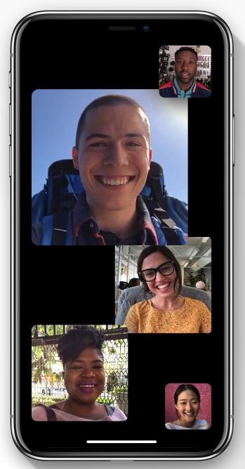 Group FaceTime feature / Photo: Apple