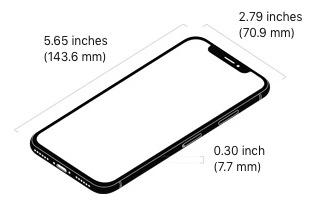 iPhone X size / Photo: Apple