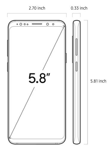 Galaxy S9 size / Photo: Samsung